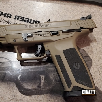Ruger 57 Pistol Cerakoted Using Blackout And Magpul® Flat Dark Earth