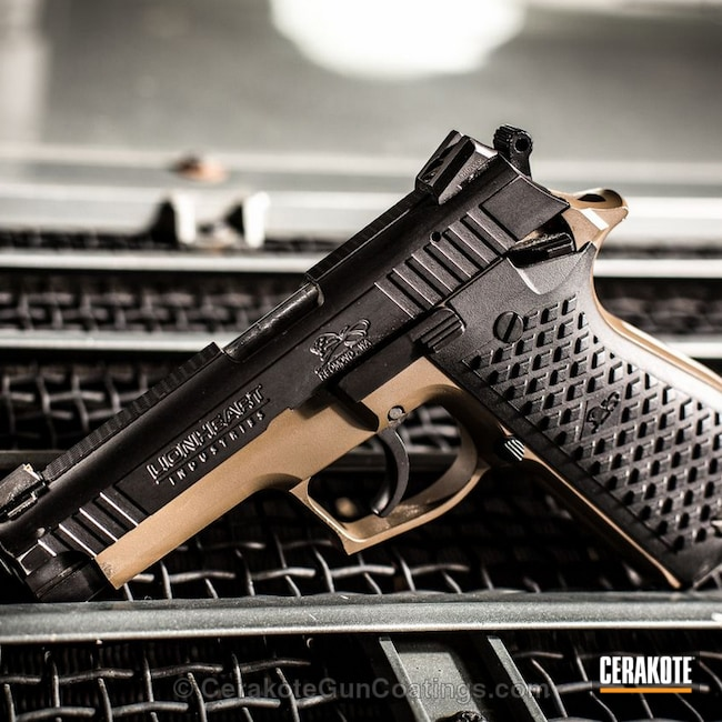 H-226 Patriot Brown with H-146 Graphite Black