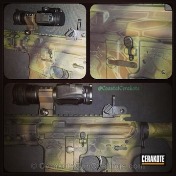 Cerakoted H-267 Magpul Flat Dark Earth With H-226 Patriot Brown And H-168 Zombie Green