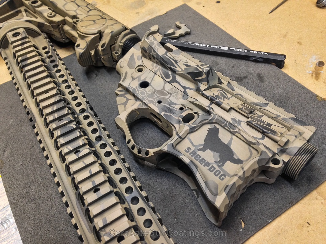 Cerakoted: Kryptek,Patriot Brown H-226,Armor Black H-190,Tactical Rifle,Flat Dark Earth H-265