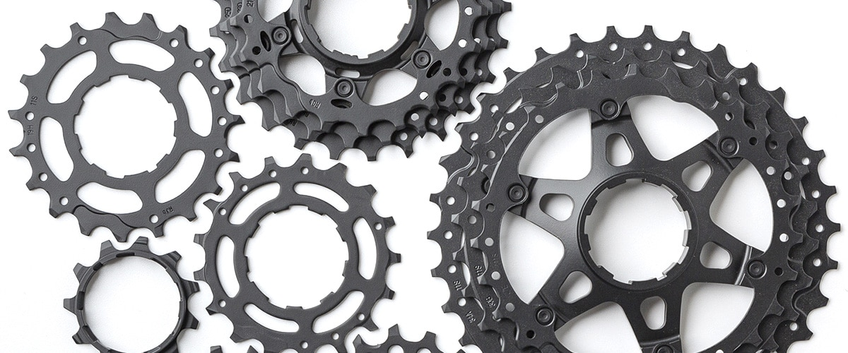 Cerakoted bicycle gears