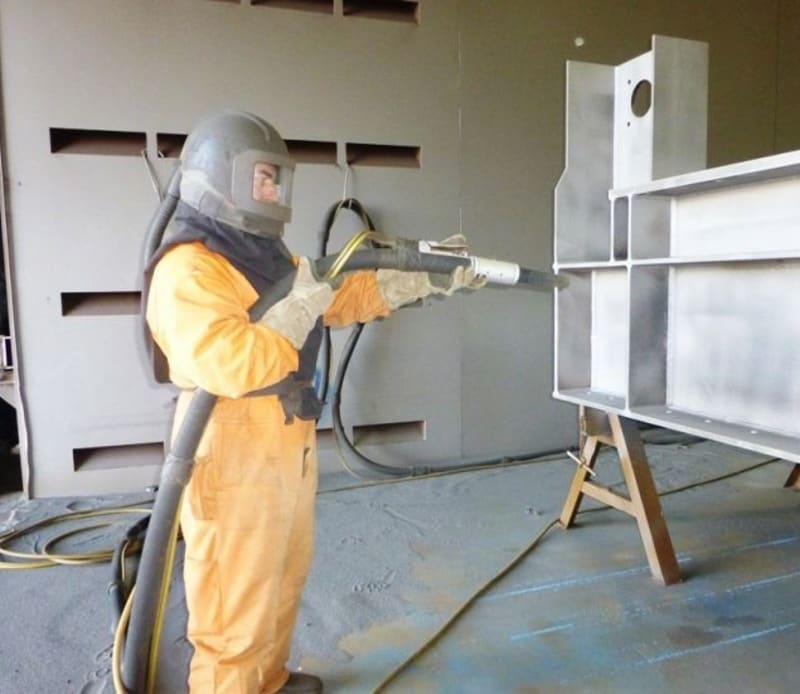 Stripping Powder Coat by Sandblasting | Prismatic Powders