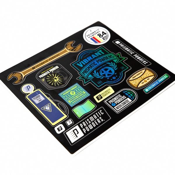 Prismatic Garage Sticker Sheet