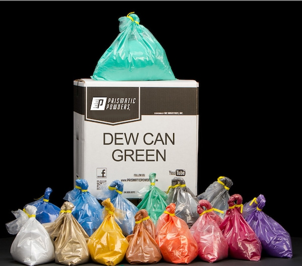 DEW CAN GREEN TWO COAT POWDER COATING KIT