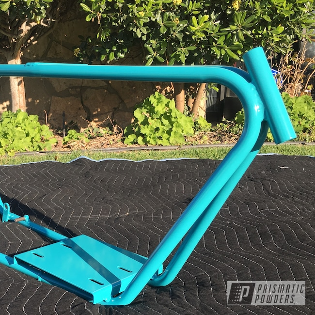 Powder Coating: Bicycle Frame and Fork,RAL 5018 RAL-5018,Custom Bicycle Frame,Bicycle,Guava PSS-6443