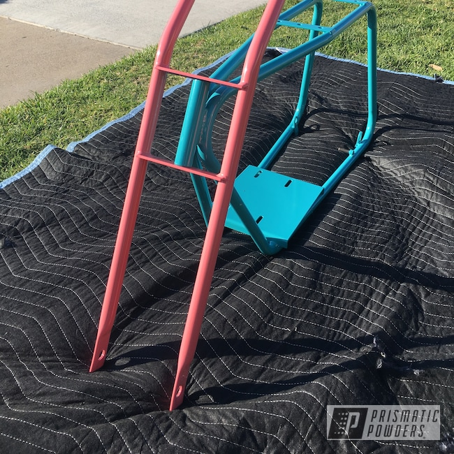 Powder Coating: Bicycle Frame and Fork,RAL 5018 Turquoise Blue,Custom Bicycle Frame,Bicycle,Guava PSS-6443