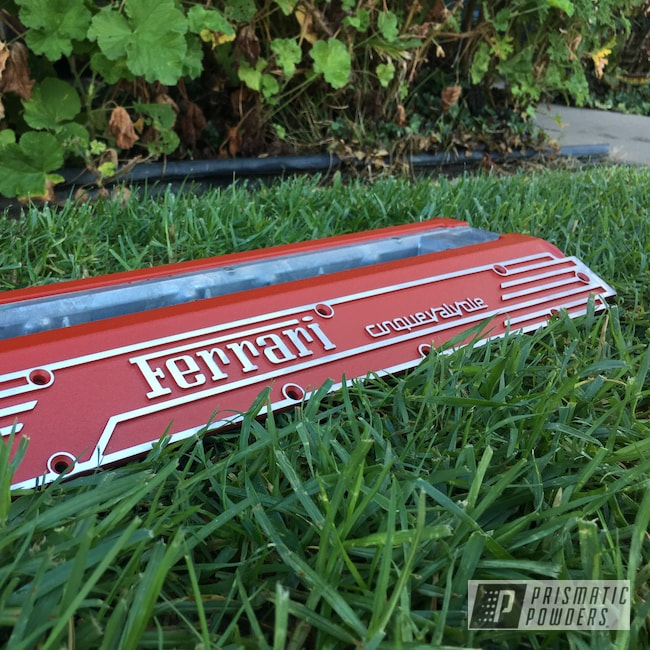 Powder Coating: Automotive,Auto,Ferrari,Desert Red Wrinkle PWS-2762,Valve Cover