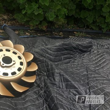 Powder Coated Gold Porsche Fan