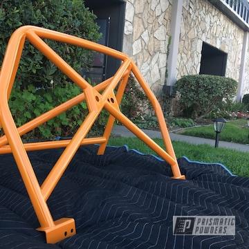 Orange Powder Coated Porsche Roll Bar