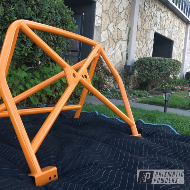 Orange Powder Coated Porsche Roll Bar