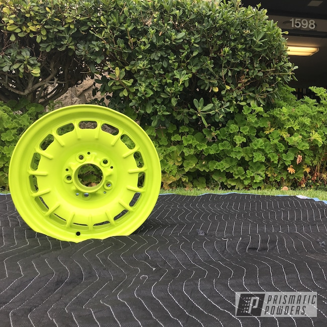 Powder Coating: Rim,Automotive,Chartreuse Sherbert PSS-7068,Rims,Auto Anthracite Polychem,Jeep