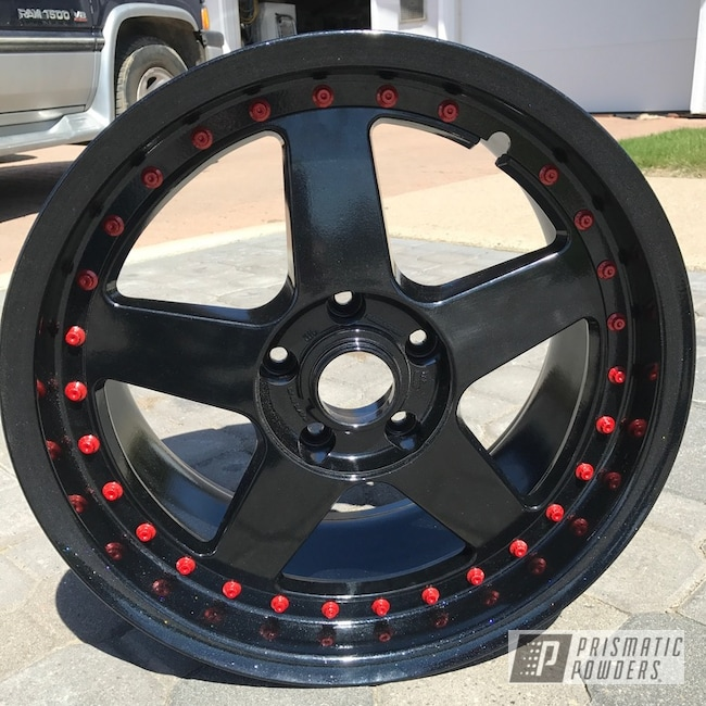 "Powder Coating: Matt Black PSS-4455,Wheels,18"",Automotive,Silver Sparkle PPB-4727"