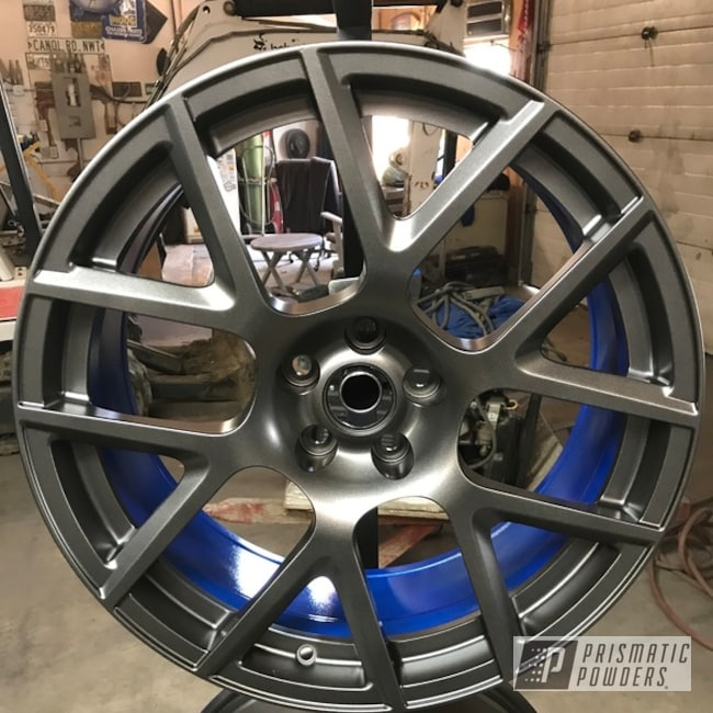 """Powder Coating: Wheels,18"""",Automotive,Clear Vision PPS-2974,BLACK JACK USS-1522,Illusion Blueberry PMB-6908"""