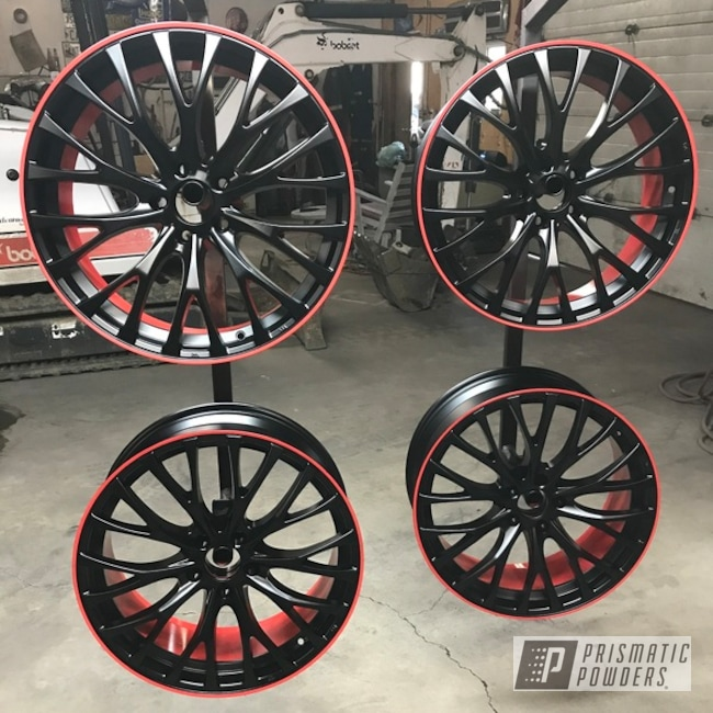 Powder Coating: Wheels,Automotive,Really Red PSS-4416,BLACK JACK USS-1522,20""