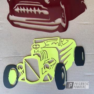Powder Coated Metal Sign Art