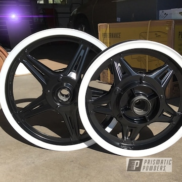 Powder Coated Tow Tone Motorcycle Wheels