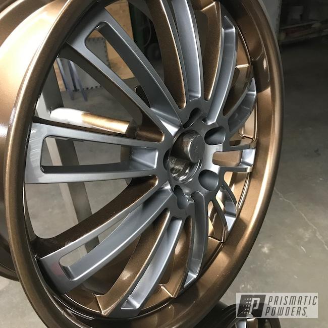 "Powder Coating: Wheels,18"",BMW Silver PMB-6525,Automotive,Bronze Chrome PMB-4124"