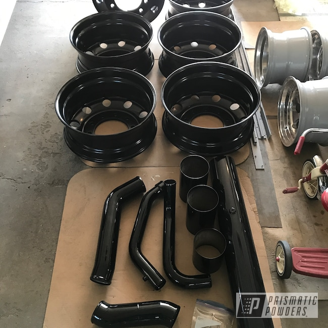 Powder Coating: Wheels,Automotive,Monster Truck,Big Truck Wheels,GLOSS BLACK USS-2603