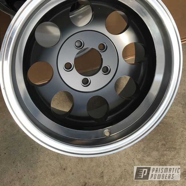 Powder Coating: Matt Black PSS-4455,Wheels,Automotive,16""