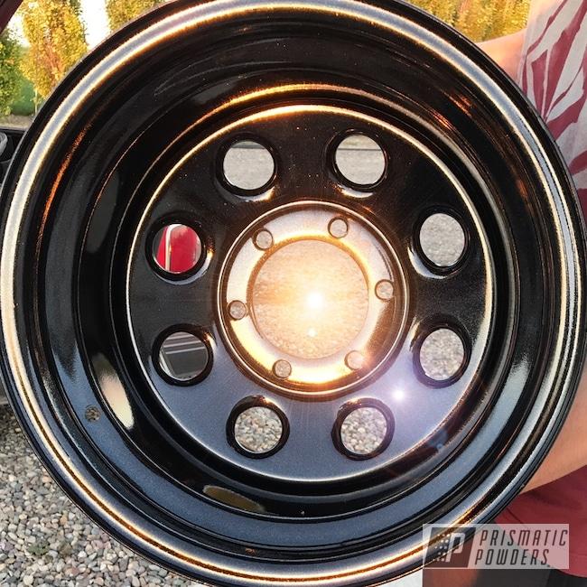 "Powder Coating: Wheels,18"",Automotive,GLOSS BLACK USS-2603"