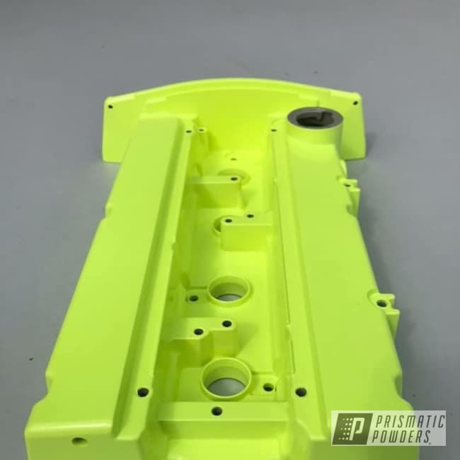 Yellow Powder Coated Valve Cover