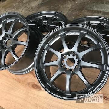 Powder Coated Wheels In Evo Grey