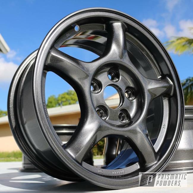 Powder Coating: Wheels,Automotive,Cadillac Grey PMB-6377