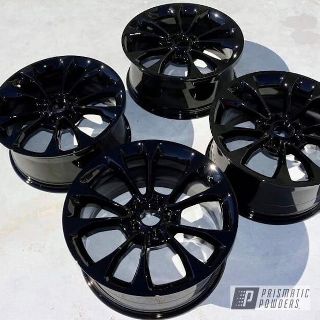 Powder Coating: Wheels,Automotive,Ink Black PSS-0106