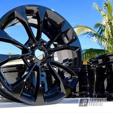 Wheels Done In Ink Black Powder Coat