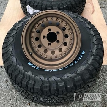 Powder Coated Matte Bronze Rims