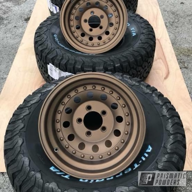 Powder Coating: Wheels,Automotive,Rims,Bronze Chrome PMB-4124,Casper Clear PPS-4005