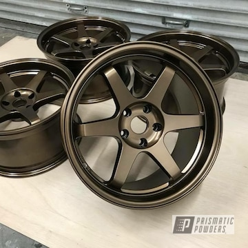 Wheels In A Bronze Chrome Powder Coat