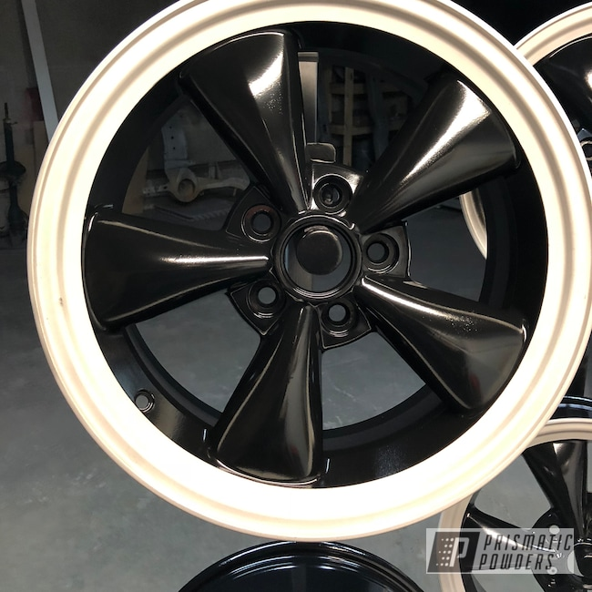 "Powder Coating: Wheels,Matte Black PSS-4455,Automotive,Ford Mustang,Ford,16"",Two Toned"