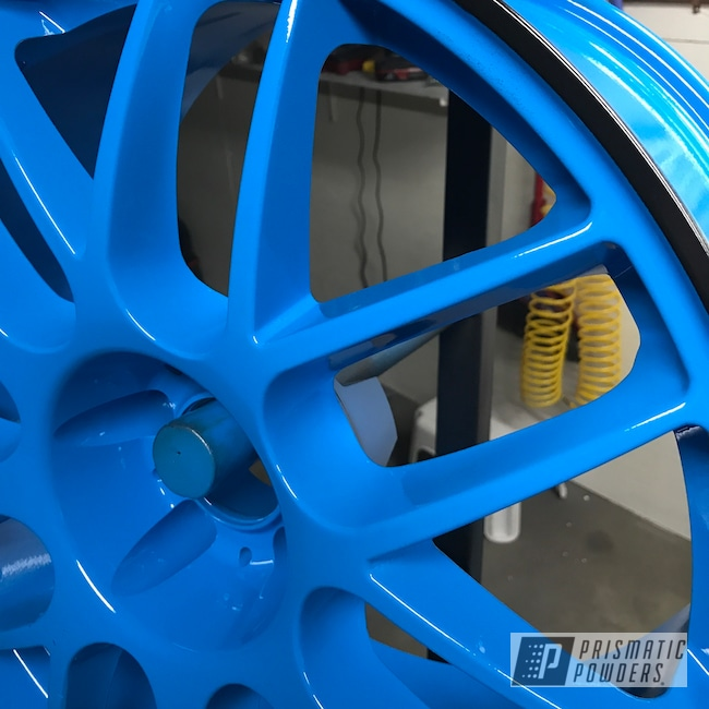 "Powder Coating: Matt Black PSS-4455,Wheels,18"",Automotive,Playboy Blue PSS-1715,Ford Mustang,Ford,Mustang"