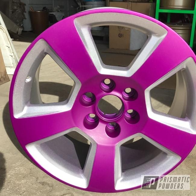 "Powder Coating: Wheels,18"",Automotive,Chevrolet,Pickup,Casper Clear PPS-4005,Illusion Violet PSS-4514"