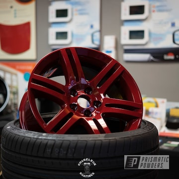 Powder Coated Cherry Red Wheels