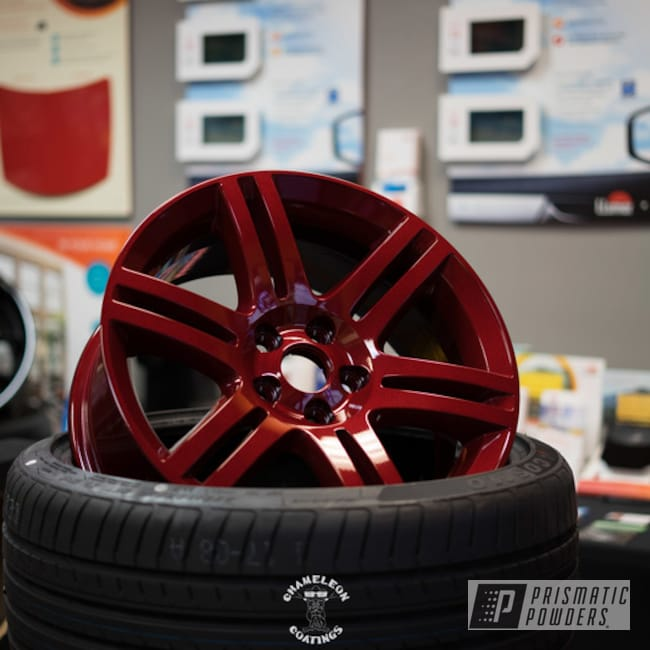 Powder Coating: Wheels,Automotive,Clear Vision PPS-2974,Aluminum Wheel,Dodge,Illusion Cherry PMB-6905