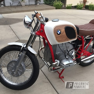 Red Powder Coated Bmw Motorcycle Frame