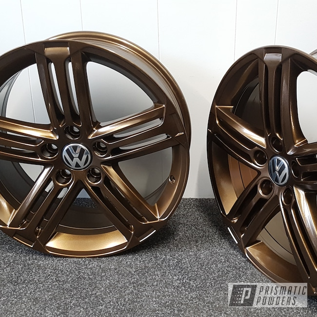 Powder Coating: Wheels,Automotive,Golf,Aluminium Wheels,Bronze Chrome PMB-4124,Volkswagen,Escudo,VW