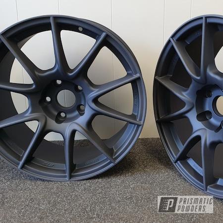 Powder Coating: Wheels,Automotive,Casper Clear PPS-4005,Misty Midnight PMB-4239,VW,VW Golf