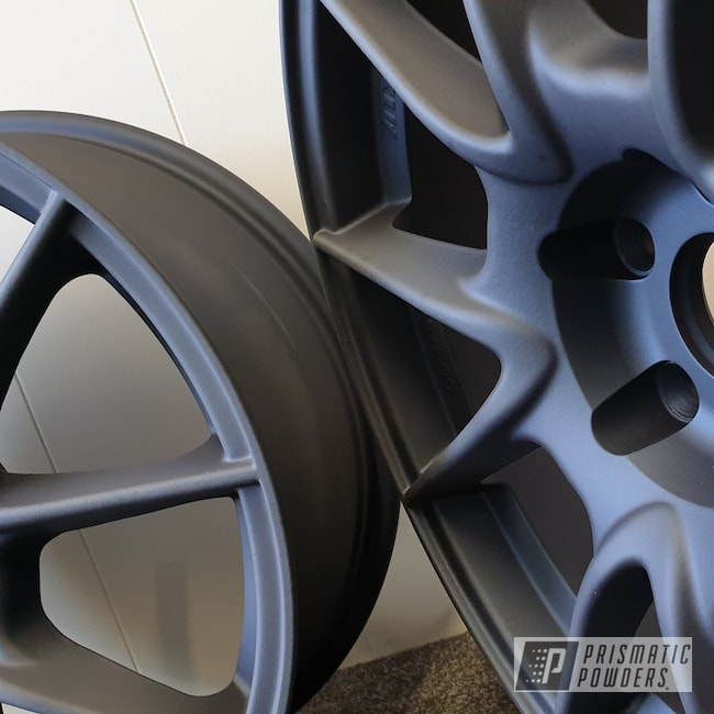 Powder Coating: Wheels,Automotive,Casper Clear PPS-4005,Misty Midnight PMB-4239,VW,VW Golf