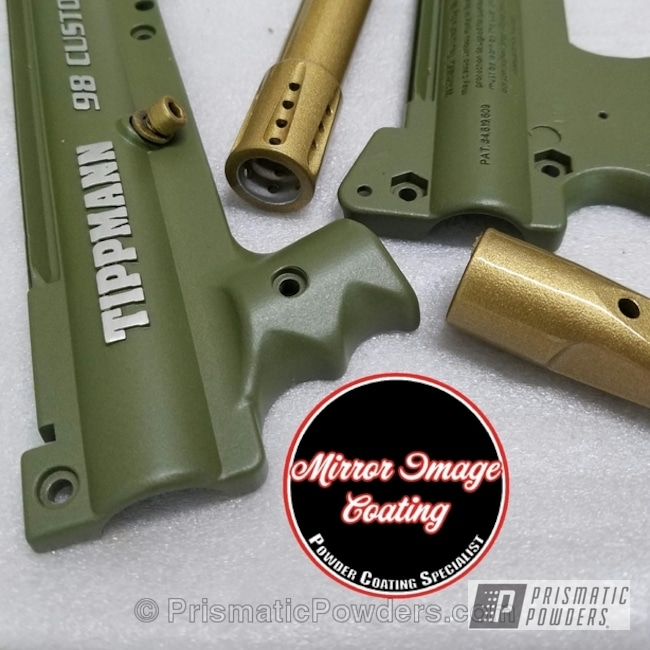 Powder Coating: Clear Vision PPS-2974,Paintball Gun,Tippmann Custom Paintball Gun,Army Green PSB-4944,Miscellaneous