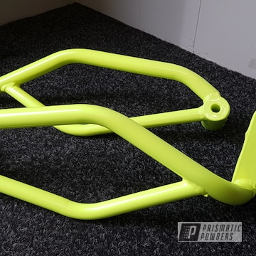 Neon Yellow Powder Coated Motorcycle Parts