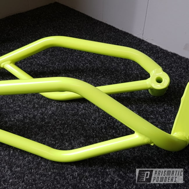 Powder Coating: Motorcycle Parts,Neon Yellow PSS-1104,Motorcycles