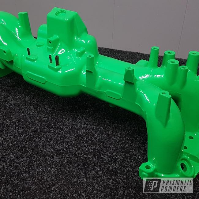 Powder Coating: Automotive,Engine Parts,Neon Green PSS-1221