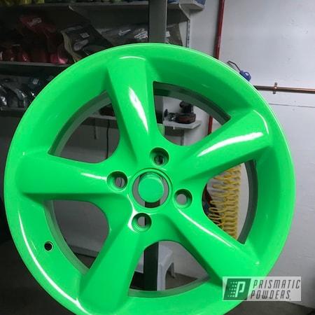 "Powder Coating: Wheels,Automotive,15"",Neon Green PSS-1221"