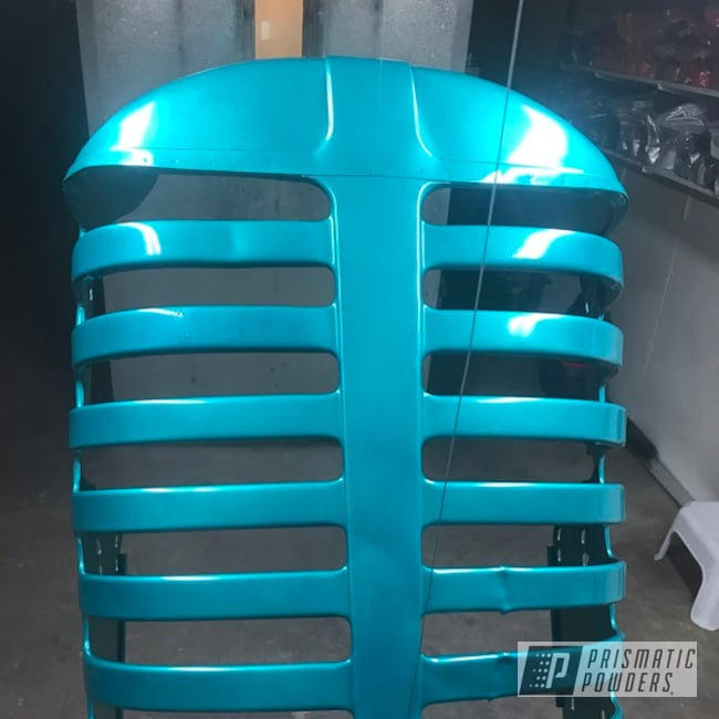 Powder Coating: BMW Silver PMB-6525,Grille,Tractor Parts,HD TEAL UPB-1848,Tractor