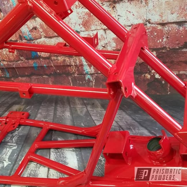 Powder Coating: Passion Red PSS-4783,quad frame,ATV,Quad Parts,Frame,4 Wheeler