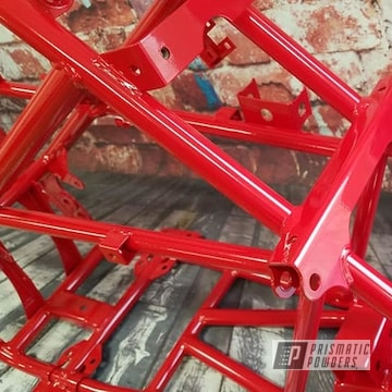Powder Coated Red Atv Frame
