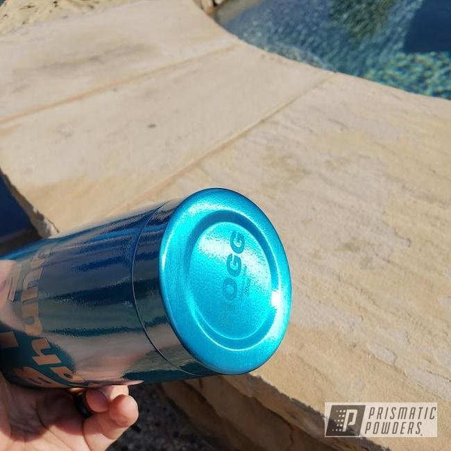 Powder Coating: Hawaii Blue PPS-4483,20oz Tumbler,Custom Tumbler Cup